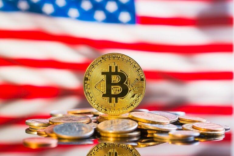 ABD bayrağı ve Bitcoin