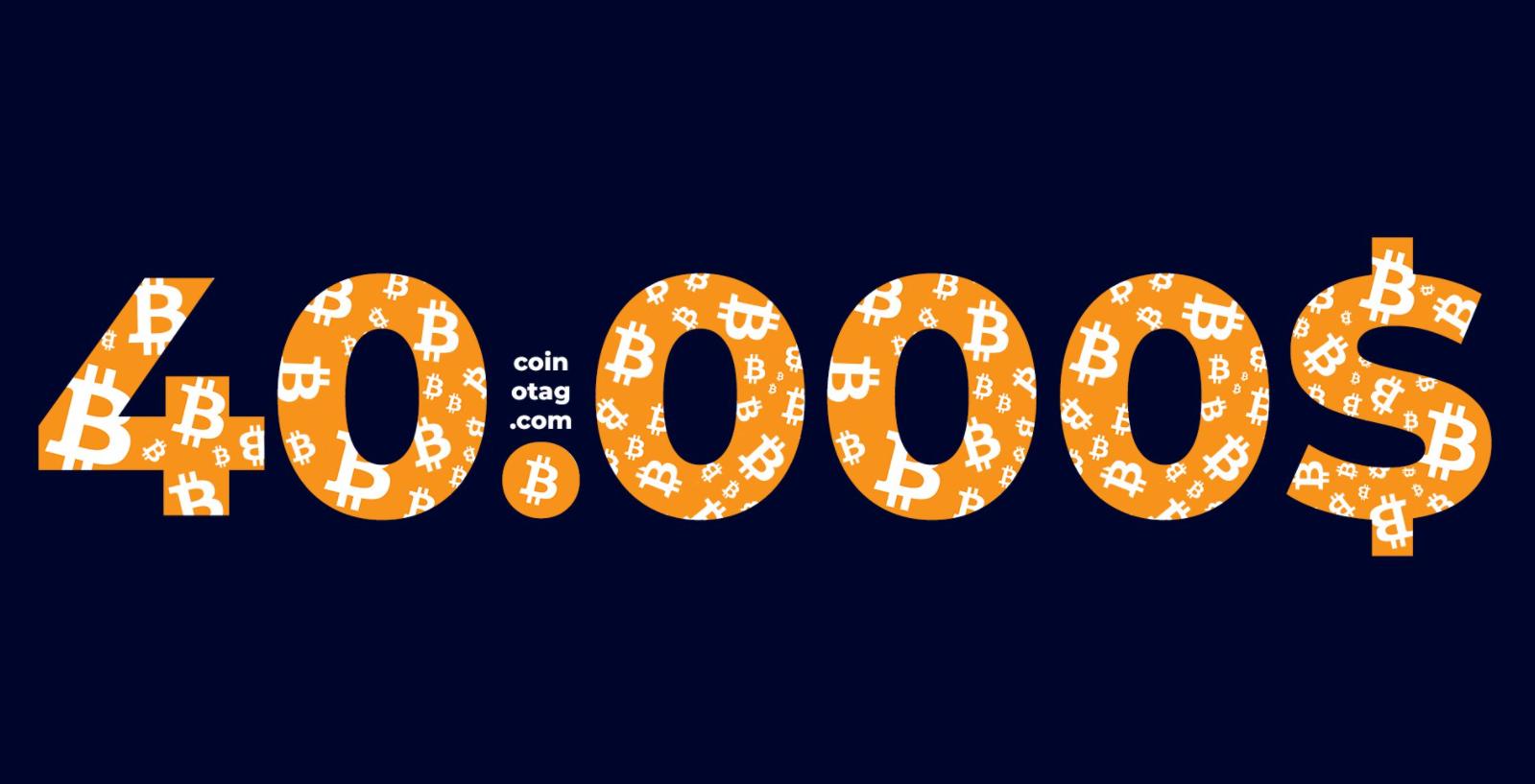 Bitcoin 40 Bin Doların Altında!