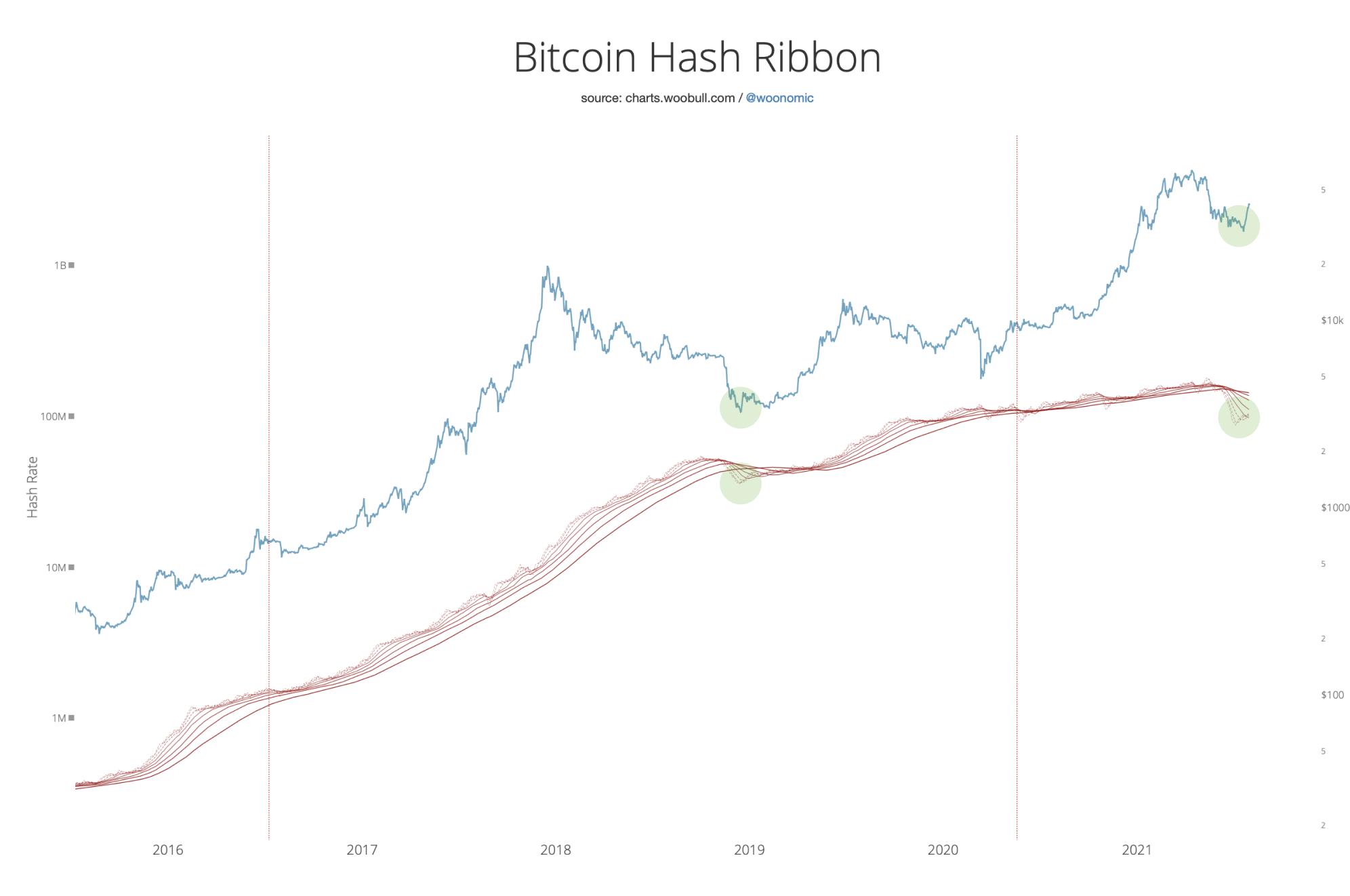 BTC Hash Şeridi ve BTC Fiyatı